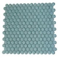 Soho Studio Crystal Series Ice Mint Penny Rounds Glass Backsplash