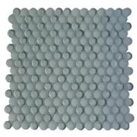 Soho Studio Crystal Series London Grey Penny Rounds Glass Backsplash