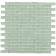 Soho Studio Crystal Series Seafoam 1/2 x 2 Brick Glass Backsplash