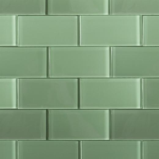 Green Grout Colorant : Soho crystal series spa green polished subway glass