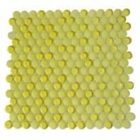 Soho Studio Crystal Series Sunshine Penny Rounds Glass Backsplash