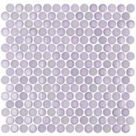 Soho Studio Crystal Series Lavender Penny Rounds Glass Backsplash