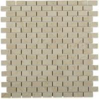 Soho Studio Crema Marfil Series 1/2 x 1 Brick Polished Marble Tile