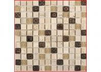 Soho Studio BDA Series Copper Deco 1x1 Mosaic Backsplash