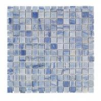 Soho Studios Blue Macauba Series 3/4 Squares Marble Backsplash Tile