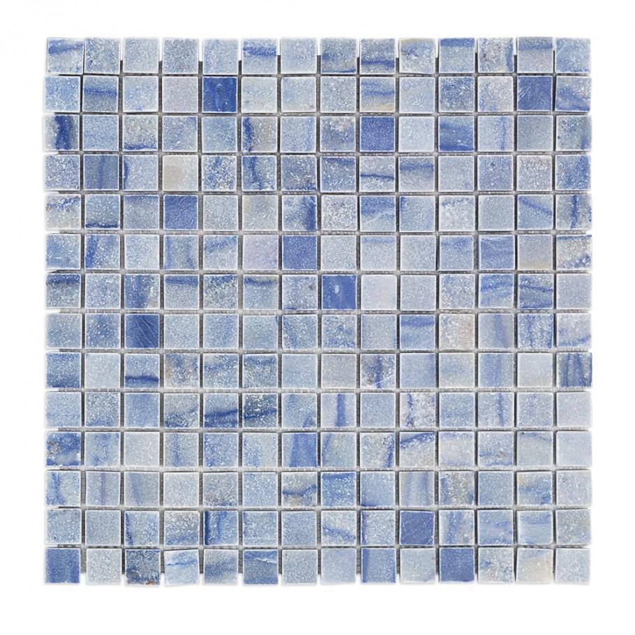 Soho Studio Blue Macauba Series 3/4 Squares Marble Backsplash Tile