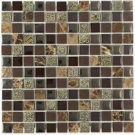 Soho Studio BDA Series Rustic Oak 1x1 Mosaic Backsplash