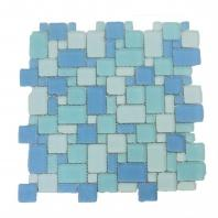 Soho Studio Beach Glass Series Surf French Pattern Frosted Glass Tile