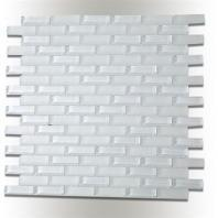 Soho Studio Crystal Super White 1/2x2 Brick CRYGSUPWBRK