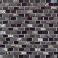 MSI Stone Midnight Pearl Mini Brick Mosaic Backsplash SMOT-SGLSMT-MNPRL8MM
