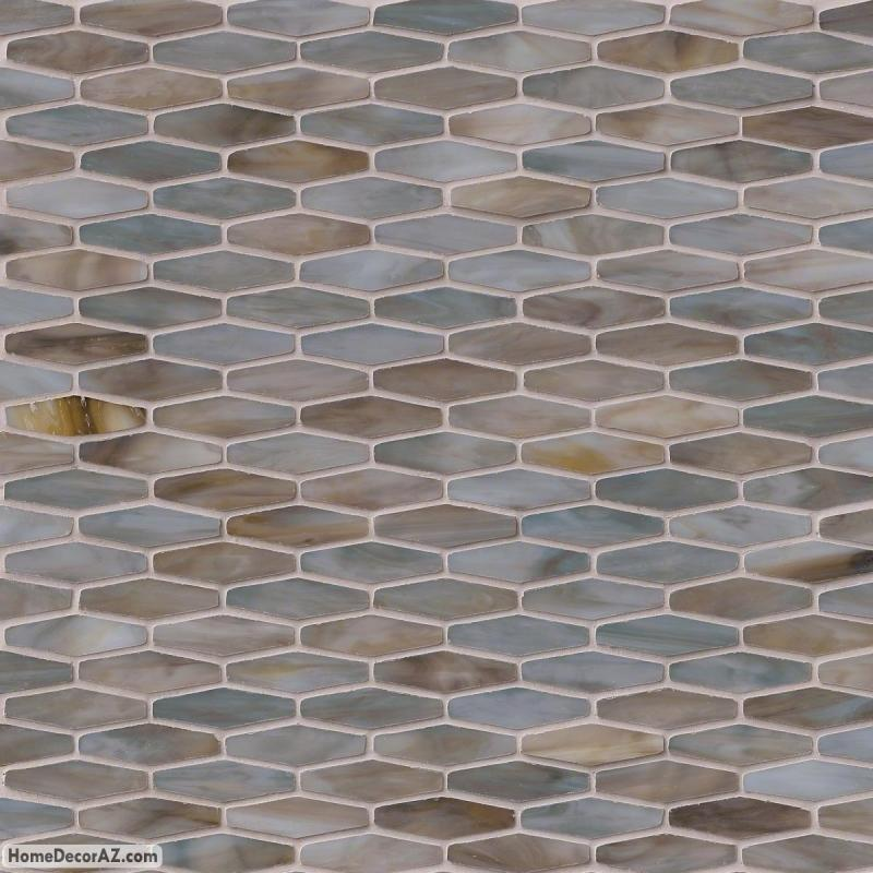Msi Stone Mochachino Hexagon Mosaic Backsplash Glsb