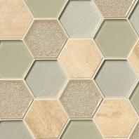 MSI Stone Monterra Blend Hexagon Mosaic Backsplash SMOT-SGLS-MONBLND8MM