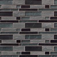 MSI Stone Perspective Blend Interlocking Mosaic Backsplash SMOT-SGLSIL-PER8MM