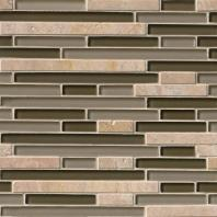 MSI Stone Pine Valley Interlocking Mosaic Backsplash SMOT-SGLSIL-PV8MM