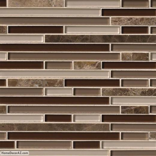 MSI Stone Royal Oaks Blend Interlocking Mosaic Backsplash THDWG-SGL-ROBI-8MM