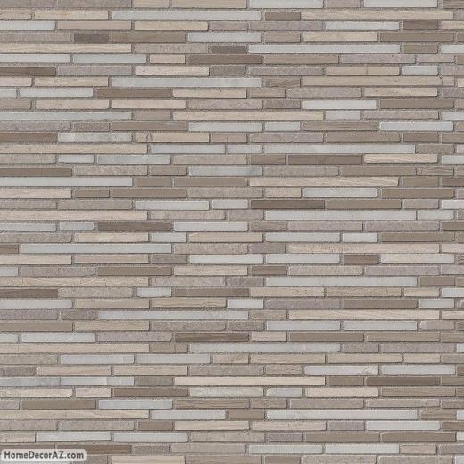Msi Stone Arctic Storm Bamboo Mosaic Backsplash Smot As Bmp10mm Hdaz