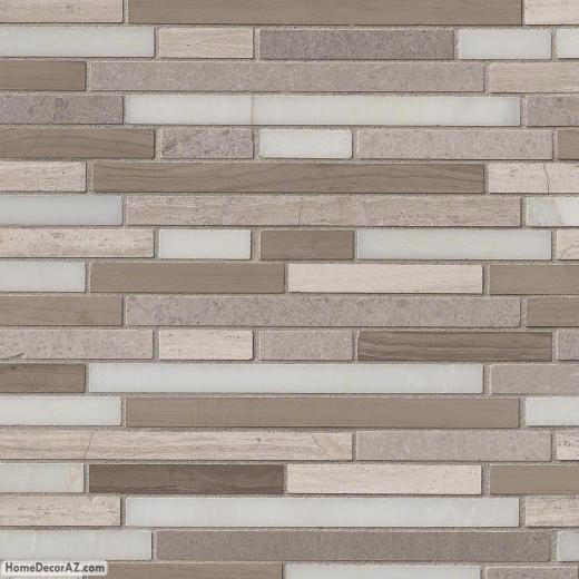 MSI Stone Arctic Storm Interlocking Mosaic Backsplash SMOT-AS-ILH