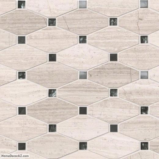 Msi Stone Bayview Octagon Mosaic Backsplash Sglsmt Bayview10mm