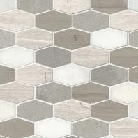 MSI Stone Bellagio Blend Elongated Hexagon Mosaic Backsplash SMOT-BELBLND-HEXEL10MM