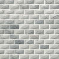 MSI Stone Carrara White 3D Mosaic Backsplash SMOT-CAR-3D-1X2P