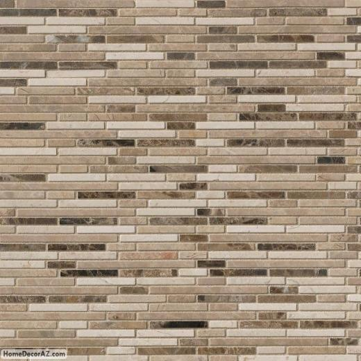 Msi stone emperador bamboo blend mosaic backsplash smot Bamboo backsplash
