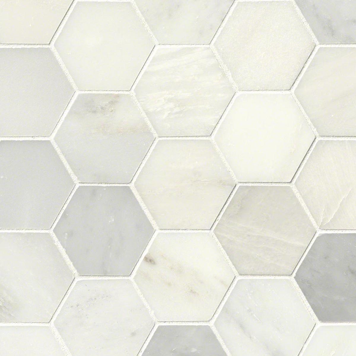 - MSI Stone Greecian White Hexagon Mosaic Backsplash SMOT-GRE-3HEXP HDAZ