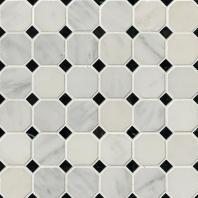 MSI Stone Greecian White Octagon Mosaic Backsplash THDW1-SH-GWO
