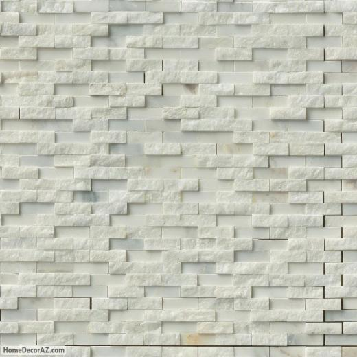 MSI Stone Greecian White Splitface Mosaic Backsplash SMOTGRESFIL10MM