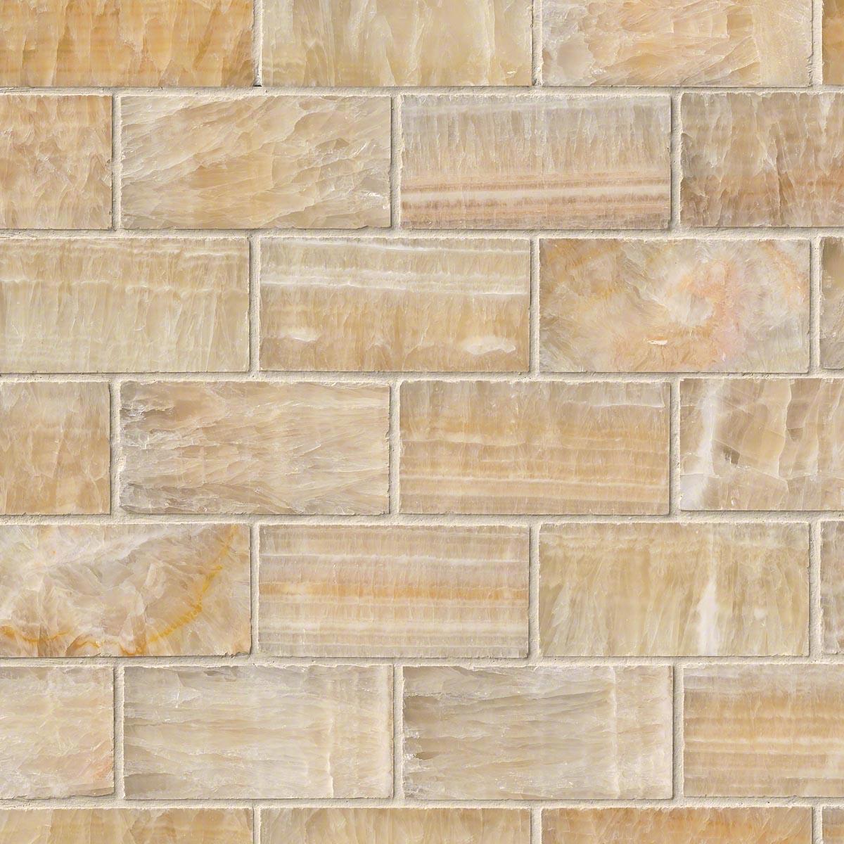 Msi Stone Honey Onyx Subway Mosaic Backsplash Smot Brick Ho8mm Hdaz