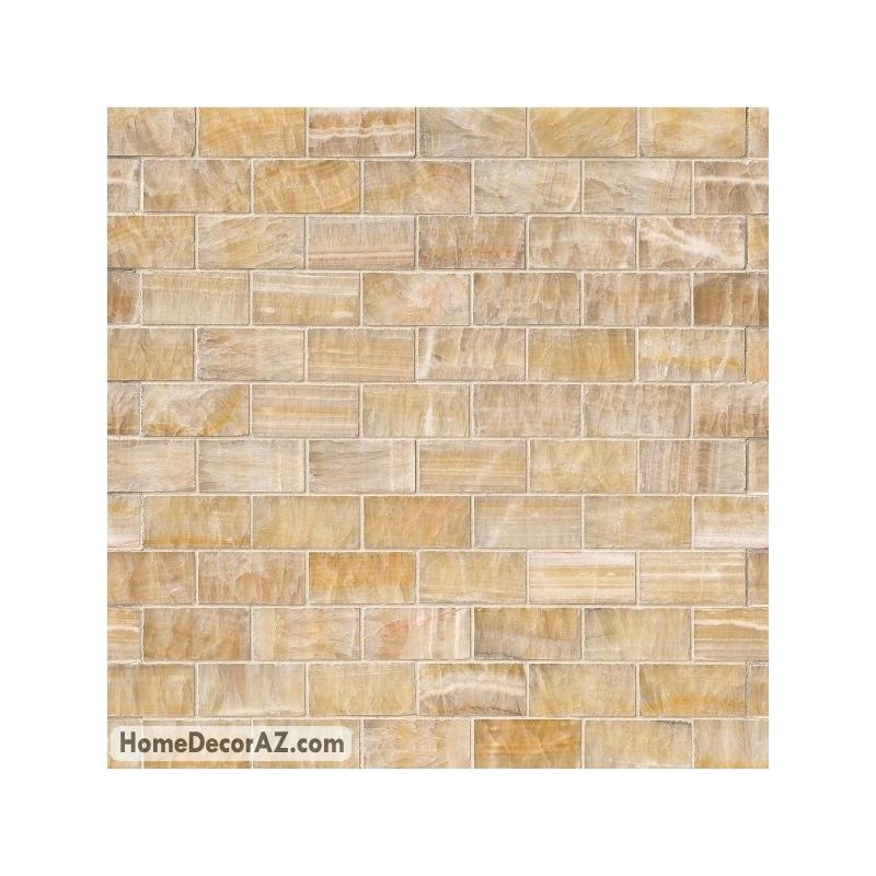 Msi Stone Honey Onyx Subway Mosaic Backsplash Smot Brick Ho8mm Hdaz