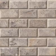 MSI Stone Silver Travertine Mosaic Backsplash SMOT-SILTRA-2X4HB