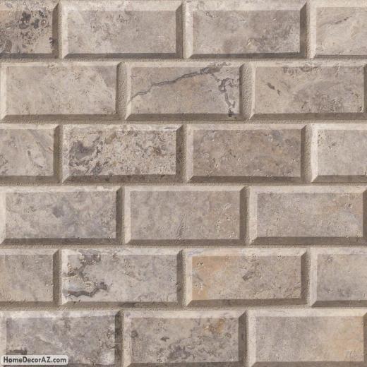 Silver Travertine Backsplash: MSI Stone Silver Travertine Mosaic Backsplash SMOT-SILTRA