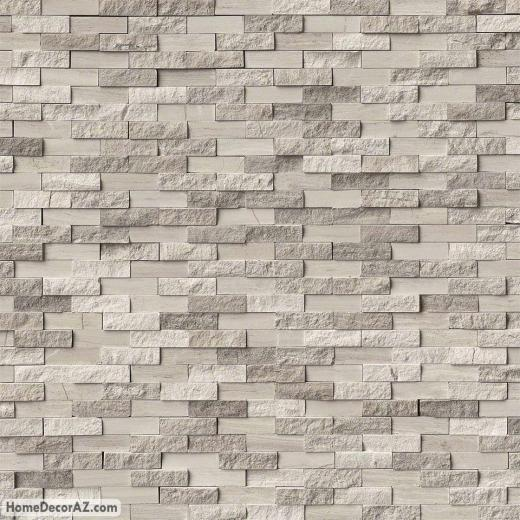 MSI Stone White Oak Splitface Mosaic Backsplash SMOTWHTOAKSFIL10MM