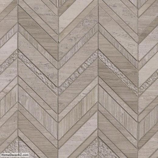 Msi stone white quarry chevron mosaic backsplash wq for Chevron template for walls