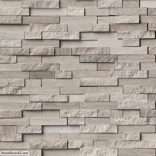 MSI Stone White Quarry Splitface Mosaic Backsplash SMOTWQSFIL10MM