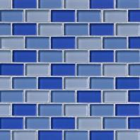 MSI Stone Blue Blend Mosaic Backsplash SMOT-GLSBRK-BLU