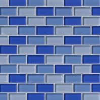 MSI Stone Blue Blend Mosaic Backsplash SMOT-GLSBRK-BLU
