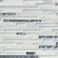 MSI Stone Cristallo Interlocking Mosaic Backsplash SMOT-SGLSIL-CRIS8MM