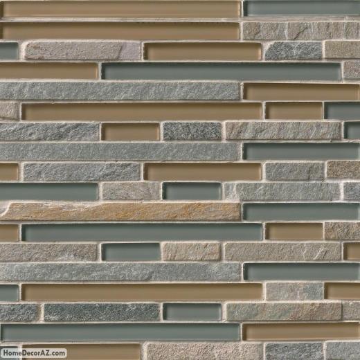 Msi Stone Golden Fields Interlocking Mosaic Backsplash