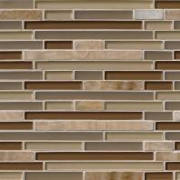MSI Stone Honey Caramel Interlocking Mosaic Backsplash THDW3-SH-HCI-8MM