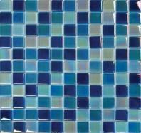 MSI Stone Iridescent Blue Blend Mosaic Backsplash SMOT-GLSB-IRB8M