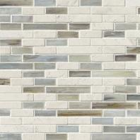 MSI Stone Kaledo Blend Interlocking Mosaic Backsplash SMOT-SGLSIL-KALEDO6MM
