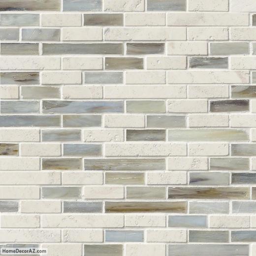 MSI Stone Kaledo Blend Interlocking Mosaic Backsplash SMOT-SGLSIL-KALEDO6MM