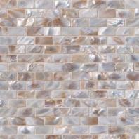 MSI Stone Santorini Brick Mosaic Backsplash SMOT-GLSSHLBRK-SANTORI