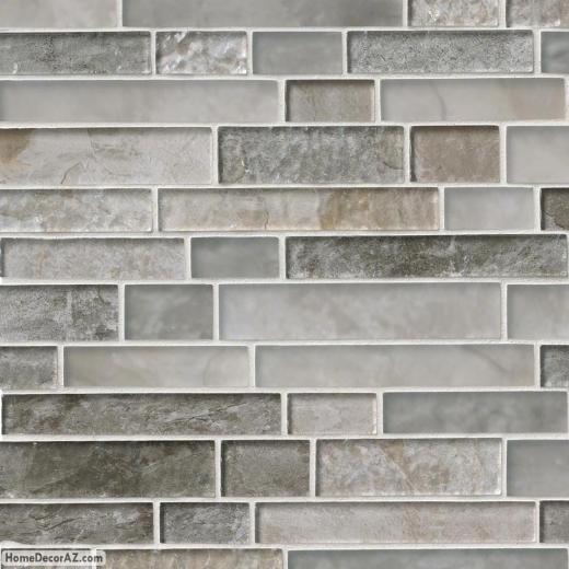 Msi Stone Savoy Interlocking Pattern Mosaic Backsplash