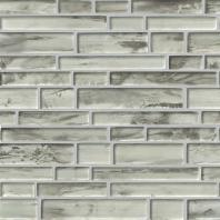 MSI Stone Silvermist Interlocking Pattern Mosaic Backsplash SMOT-GLSIL-SILVERM8MM