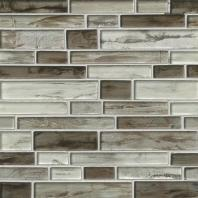 MSI Stone Sterling Interlocking Pattern Mosaic Backsplash SMOT-GLSIL-STERLING8MM