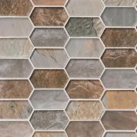 MSI Stone Taos Picket Pattern Mosaic Backsplash SMOT-GLSPK-TAOS8MM
