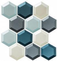 Shimmering Breeze Series Hawaiian Blue SHM692 Beveled Hexagon Tile