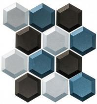 Shimmering Breeze Series Gentle Daydream SHM694 Beveled Hexagon Tile